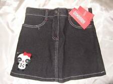 NWT GYMBOREE ~ HOLIDAY PANDA black denim skirt attached shorts ~ girls 3 3T
