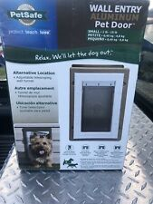 PetSafe Wall Entry Aluminum Pet Door Small PPA11-10915 up to 15lbs NEW