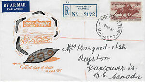 1961 AUSTRALIA  NT Cattle Industry Shepparton FDC Royal cover horses registered