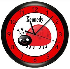 Lady Bug Wall Clock Art Decor Girls Bedroom Ladybug Red Black Gift Cute Insect