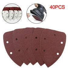 140mm Mouse Sander Pads Sanding Sheets Discs Mixed 10 x 40 80 120 240 Grit 40PCS