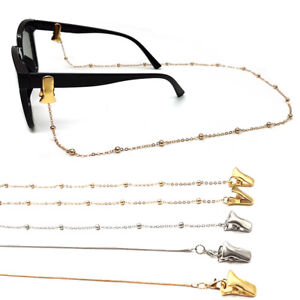 For Women Face Mask Necklace Snake Chain Glasses Clips Reading Glasses Chain