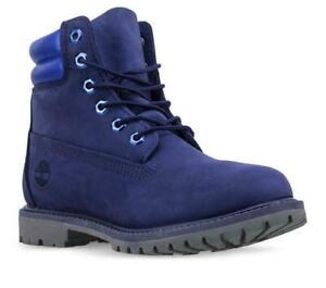 Timberland Women's Waterville 6 Inch Waterproof Boot Dark Blue Nubuck A25Y4