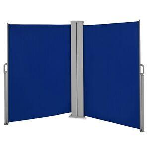 Doppel Seitenmarkise 180x600 Windschutz Sichtschutz Sonnenschutz Seitenrollo
