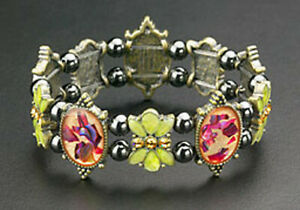 Magnetic Bracelet Hematite Bead Stretch Therapy Crystal Butterfly Abalone Stone