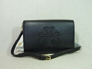 NEW Tory Burch Black Leather Harper Combo Messenger/Cross Body/Clutch $395