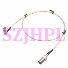 "cable BNC jack to DIN 1.0/2.3 ""L"" M 75Ω 1080P 3G HD mini SDI AV Camera RG179 2FT"
