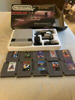 NES Console Complete Box!! 2 Controllers!! NES Adapter And RF Switch! 10 Games!