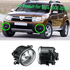 LH&RH Fog Light Bumper Lamp w/Bulb o Fit For Dacia Duster Sandero Logan 2004-15