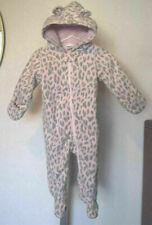 Carters Baby Girl Size 9 Months Leopard Fleece One Piece Pram Bunting Outerwear