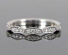 Tacori Sculpted Crescent 18K White Gold Round Diamond Wedding Band Ring