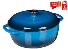Enameled Cast Iron Covered Dutch Oven, 6-Quart FREE SHIPPING