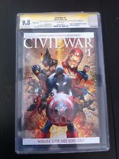 CIVIL WAR #1 TURNER VARIANT CGC SS 9.8 2X SIGS by MICHAEL TURNER & STEVE MCNIVEN