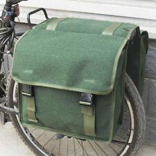 1980s Armee Leinen Doppel Fahrradtasche Taschen Grün Fahrrad Hinterer Sitz