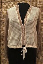 Gimmicks By Bke Buckle Women's x- small Boho chic Lace Textured button Top Shirt