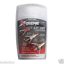 "Slipcam X-TREME Expandable Broadheads 3 Pack 2 Blade 100 Grain 2.3"" Cut"