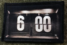 Groundhog Day Movie Clock Morale Patch TTactical Military Army Badge Hook Flag