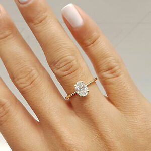 GIA CERTIFIED 0.7 Carat Oval shape I - VS2 Solitaire Diamond Engagement Ring