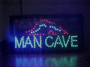 "NEW Lighted ""MAN CAVE"" Working Neon LED Sign - Game Room, Gararge, Office, etc."
