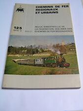 Chemins de fer régionaux et urbains 1974 125 80 ans traction CFD Vivarais-Lozère