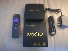 4k MX10 Tv Box 4gb Ram 32gb Rom Android 8.1 RK3328 With Kodi 18.0, IPTV Trial