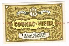 Unused 1940s NETHERLANDS Gulpen Brewery GULPENER COGNAC Label