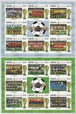 """LIBERIA - 2002 """"Campionati Mondiali di Calcio 2002"""" 4 x BF **"""