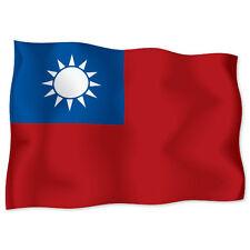"""REPUBLIC OF CHINA Flag car bumper sticker decal 6"""" x 4"""""""