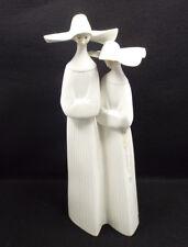 "Lladro Figurine #4611 Nuns, in White, 13"""