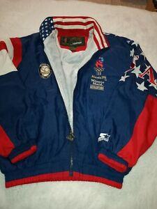 Vintage Atlanta 1996 Olympics Games Starter Jacket Size M Windbreaker