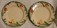 Lot of two Mint Franciscan England dinner plates tulip pattern 10.5 inches