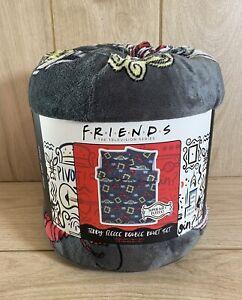 Friends TV Show Teddy Fleece Grey DOUBLE Duvet Cover Bedding Set - Brand New