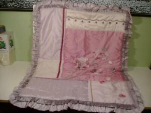 NEW KIDSLINE Baby Coral FLEUR Reversible Quilt /Comforter Blanket