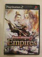 Dynasty Warriors 5 Empires (Sony Playstation 2 ps2) Tested and Working COMPLETE