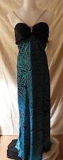B Darlin Black / Turquoise Long Dress Size 7/8 NWT