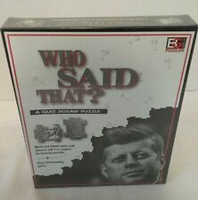 """WHO SAID THAT"" QUIZ JIGSAW PUZZLE (New, Sealed) Buffalo Games 1994"