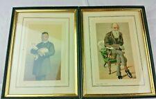 2 VINTAGE FRAMED PHOTOS LOUIS PASTEUR AND CHARLES DARWIN