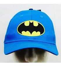 Batman Baseball Cap Child Size Licensed Blue with Batman Logo- New with Tags
