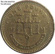 RARE Gibilterra £ 1 Pound Coin con Castello e chiave -2001