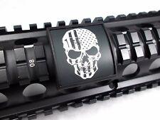Custom Picatinny Rail Cover – U.S. Flag Skull, Black Retainer
