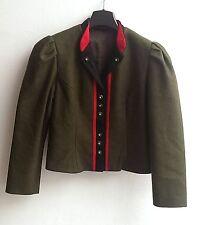 Damen Trachten Janker Jacke grün/rot/schwarz Gr. 36 v. Chiemsee Trachten