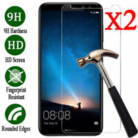 2x 9H Tempered Glass Screen Protector Cover Film For Huawei Honor 6X 7 8 9 10