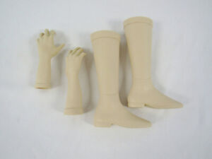 4 New Illusions Bisque Ceramic Doll Arms & Boots