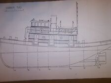 HARBOR TUG  boat plans