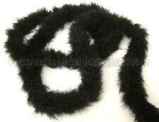 BlacK 15 Grams Marabou Feather Boa 6 Feet Long Crafting Sewing Trim
