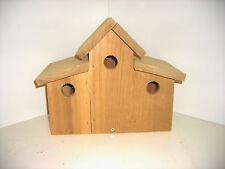 Red Cedar Triple Birdhouse