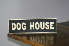 DOG House Vintage Shabby Chic segno in legno vecchio look