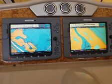 Two Raymarine E120 Classic Multi-Function Displays, Radar, Sounder, Remote, ST70