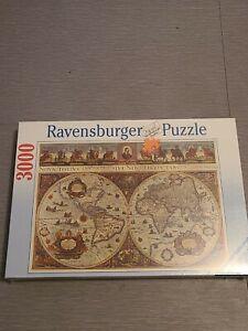 Ravensburger 3000 Jigsaw Puzzle World Map 1665 New Sealed 1994