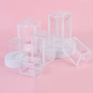 5pcs Transparent Gift Box PVC Plastic Clear Packaging Boxes for Birthday Wedding